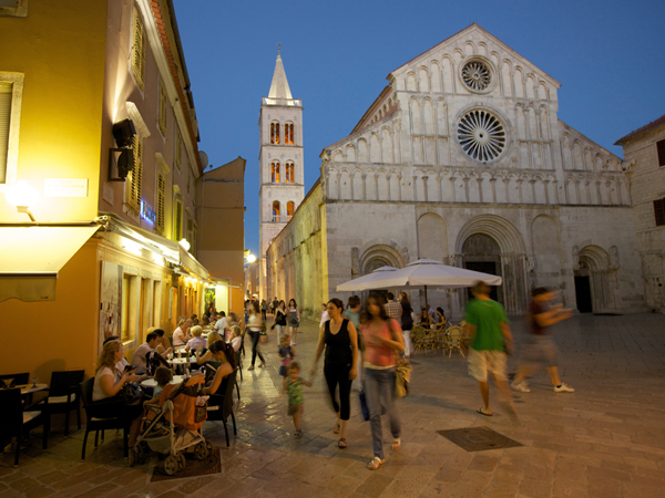 cafe in the old town of Zadar