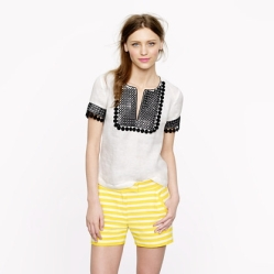 Textured-stripe short