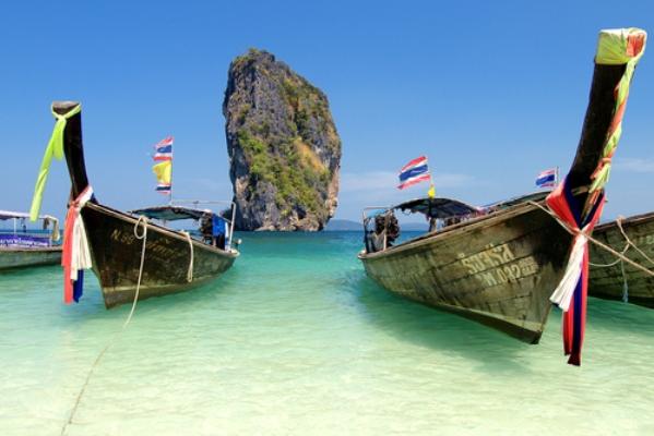 longtail boats krabi