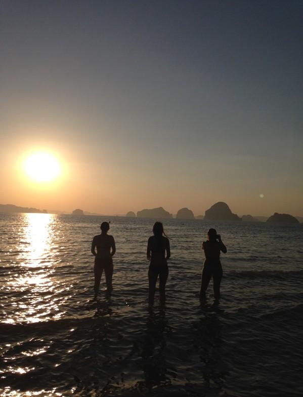 sunset over hong islands