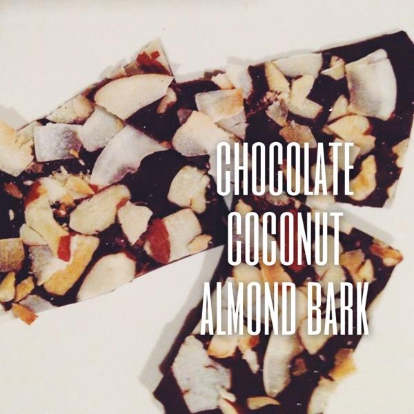 chocolate coconut almond bark