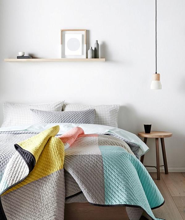 colorblock bedding