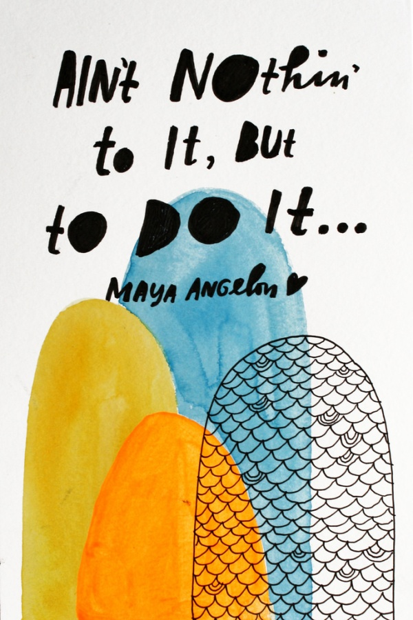 maya angelou by lisa congdon