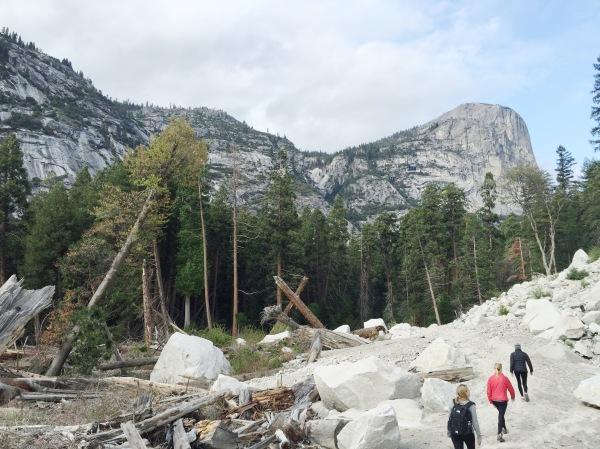 Happy Hikers at Mirror Lake