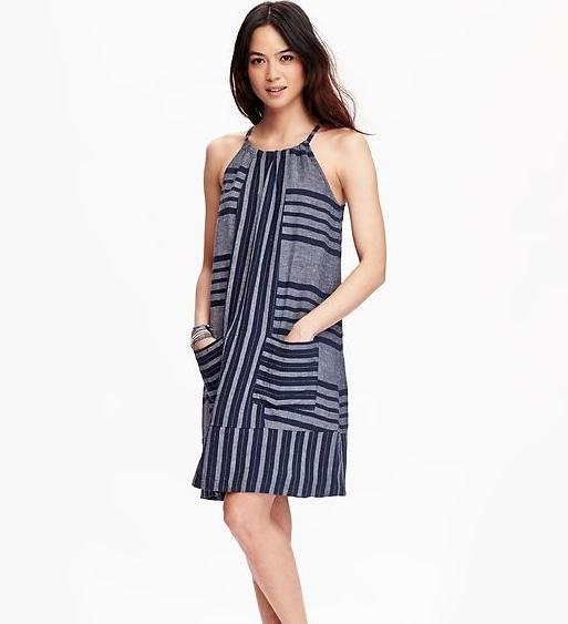 Striped Linen Shift