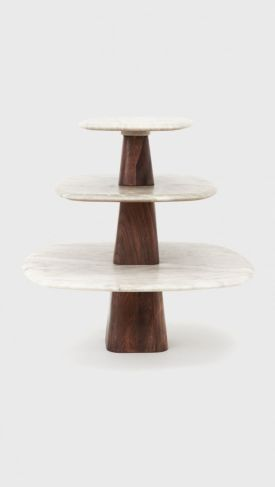 Marble Pedestal Tables (Set of 3)