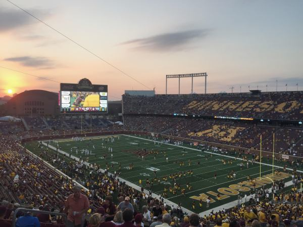 Golden Hour at the Gopher game