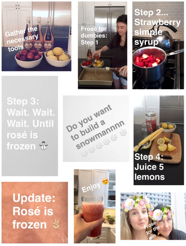 Frosé as told by Snapchat